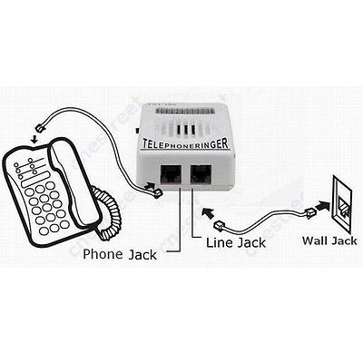 Telephone Phone Bell Ringer up to 95dB w/ Strobe Light Flasher Extra-Loud