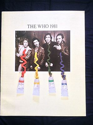 The Who 1981 Official Tour Program