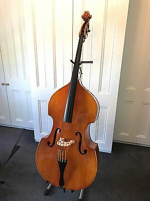 Upright Bass Double Bass Eberhard Meinel 3/4 w Pickup, Adjusters Exc Cond