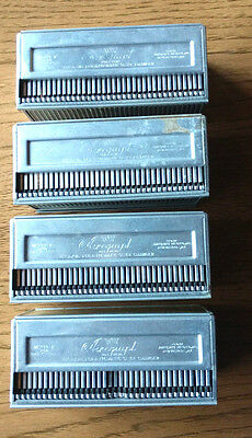 Airequipt Model P 2x2 Slide Magazines Lot of 4  Holders