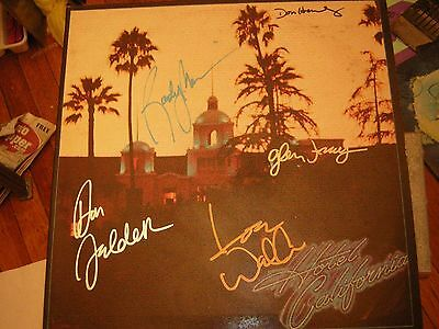 - The Eagles Signed Lp Hotel California Glenn Frey Don Henley Felder 1976