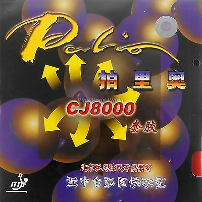 2x Palio CJ8000 (38-41°) Table Tennis Rubber,Short+Middle Court Loop+Attack Type