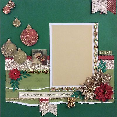handmade scrapbook page 12 X 12 Christmas #7 Themed Layout