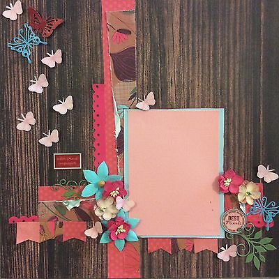 handmade scrapbook page 12 X 12 Sisters Themed Layout