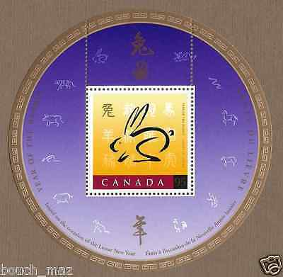 Canada -S/S with China '99 Logo OVPRTD -Lunar New Year of the Rabbit #1768i MNH