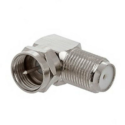 L-shaped BNC Male Right Angle to Female Coax Coaxial Cable Adapter Connector
