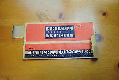 Lionel 1679 Boxcar Box Only