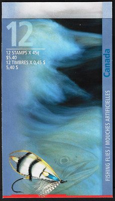 Canada Stamps - Booklet Pane of 12 in Cover - Fishing Flies #1720b (BK207) - MNH