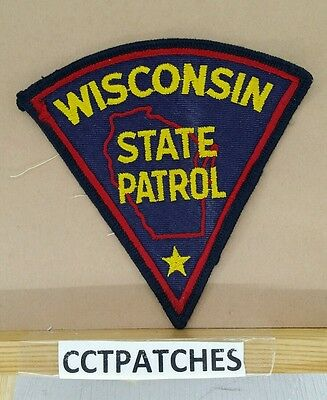 Wisconsin State Patrol Police Shoulder Patch Wi