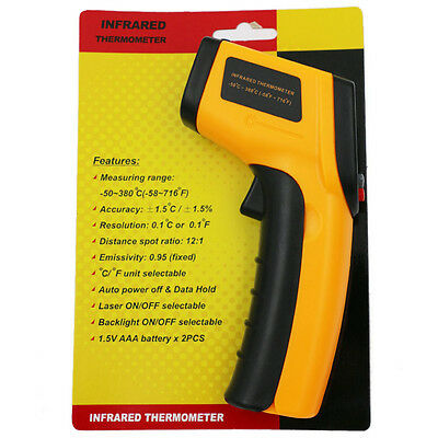 Thermometer Non-contact Temperature Pyrometer Infrared Digital Laser IR Gun A+++