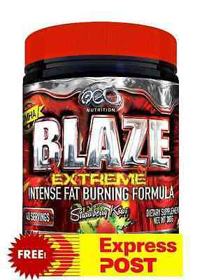 BLAZE EXTREME from OCD Nutrition with 150mg DMHA - HUGE 40 Serve - Fat Burning