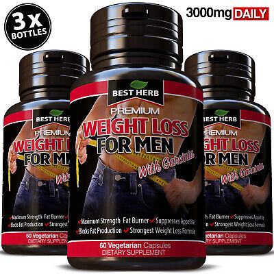Extreme Weight Loss For Men Fat Burner Detox Slimming Capsules Diet Pills Strong