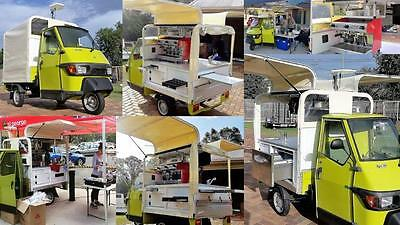 Piaggio Ape 50 near new, complete with coffee machine