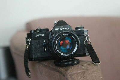 Pentax MX Camera body with 50mm and lots