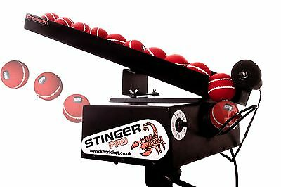 RECONDITIONED STINGER-PRO Cricket Bowling Machine With REMOTE FEEDER