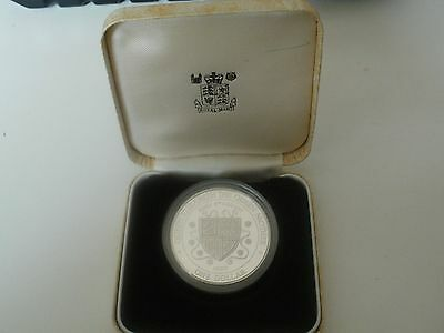 silver proof 1994 queen mother one dollar coin cayman islands 28.3g