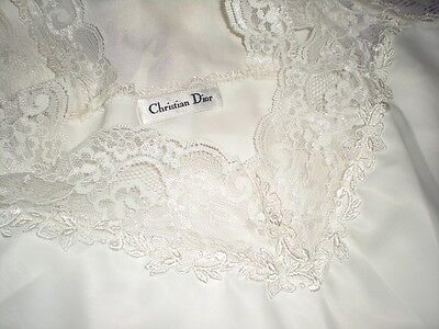 Vtg. Christian Dior Ivory Cami with lacy straps Size Small