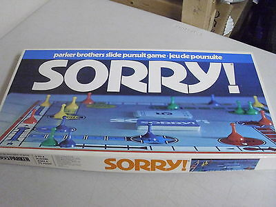 Parker Brothers Sorry Board Game Replacement Pieces Only