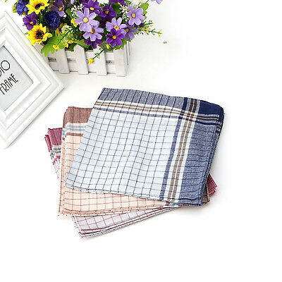 15x Mens HANDKERCHIEFS 100% Cotton Pocket Square Hanky Handkerchief 40x40cm New