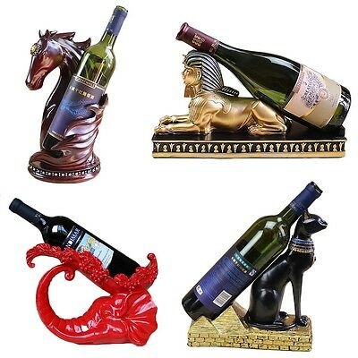 New European Decor Animal Shape Resin Sculpture Crafts Wine Bottle Rack Holder