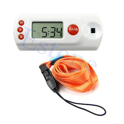 Old Man 3 in 1 Dynamic LCD Pulse Heart Rate Monitor+Clock + Alarm Health Display