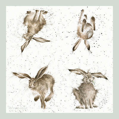 Wrendale Designs Country Set of 20 Hare- Brained Hare Paper Napkins