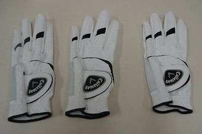 Callaway Golf Gloves 3 Pair Pack Synthetic Leather - Small