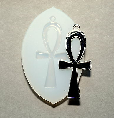 ANKH Cross  SILICONE Mold SUGARCRAFT POLYMER CLAY FIMO RESIN cupcake MOULD