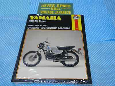 YAMAHA RD125DX TWIN 1974-1982,  OWNERS WORKSHOP MANUAL new manual .