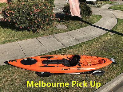 New Jetocean 3.6M 12ft Single Sit-On Fishing Kayak with Paddle and Seat Orange