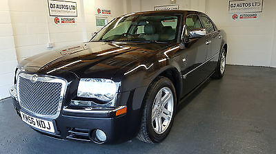Chrysler 300C 3.0CRD V6 auto black with grey leather 56 plate