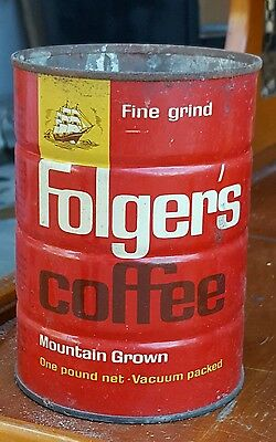 folgers coffee cans vintage