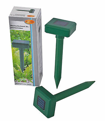 2x Mole mouse schreck solar powered anti talpa talpe REPELLENTE RODITORI Vole