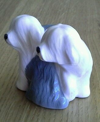 Beswick OLD ENGLISH SHEEPDOGS Puppies vintage miniature dog figurine