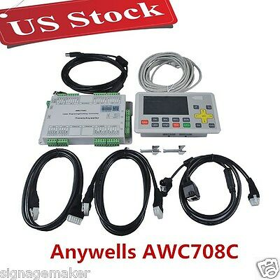 US Anywells AWC708C LITE Laser Controller System for CO2 Laser Cutting Engraving