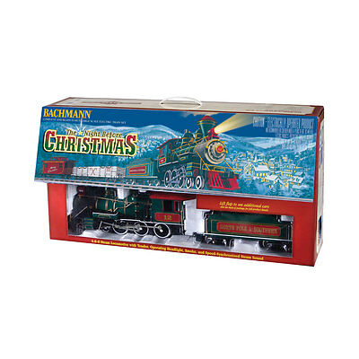 Bachmann G Scale The Night Before Christmas Electric Train Set Locomotive Track