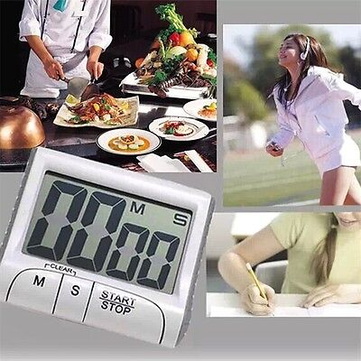 Large LCD Digital Kitchen Timer Count-Down Up Clock Loud Alarm NR