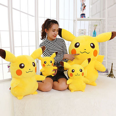 Japanese Anime POKEMON Go Pikachu 45-55-75CM Soft Plush Toy Kids Teddy Doll Gift