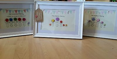 Family Button Picture Birthday Present Gift Personalised