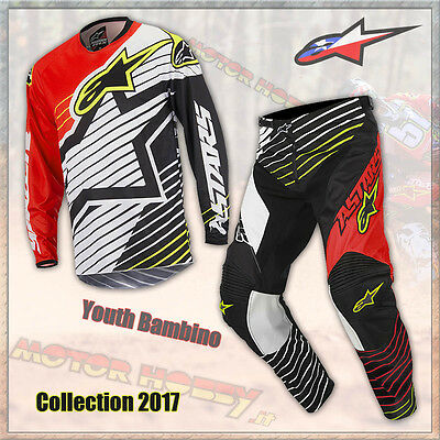 Completo Youth Bambino Alpinestars Racer Braap 2017 Red White Black Xl  28