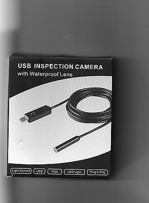 New  Usb Inspection Camera In Colour Water Proof 10M Cable -  Uk