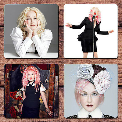 Cyndi Lauper Coaster Set NEW She's So Unusual True Colors Time After Time
