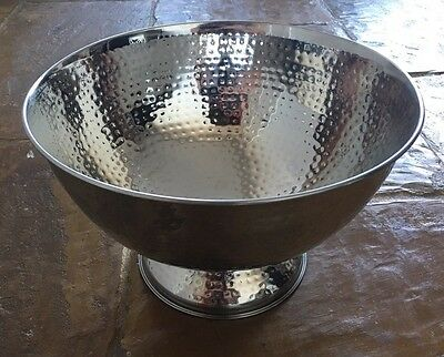 Stainless Steel Dimpled Wine Cooler Ice Bucket Champagne