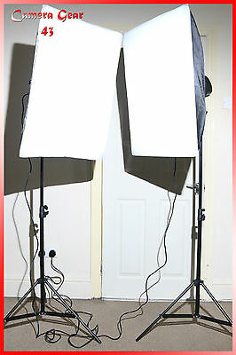 Photography 2x Studio Soft Box Light Kit
