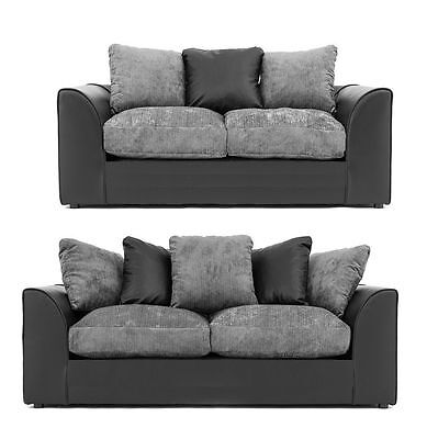 *brand New* Byron 3+2  Sofa *available In Black & Grey - Brown & Mink*