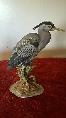 The Chancery Common Heron Figure Hand Painted Porcelain By Maruri