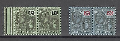 British Virgin Islands, 1/ And 2/6 Mh  Pairs