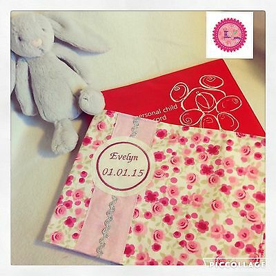 NHS Red Book Cover Baby Personalised Birth gift
