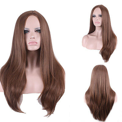 Fashion Sexy Brown Long Natural Full Wig Lady Women's Cosplay Wigs Styling Xpy
