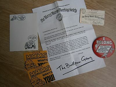 MERRY MARVEL MARCHING SOCIETY 1st member pack MMMS marvelmania silver age comics